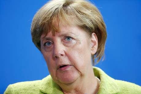 Chanceler da Alemanha, Angela Merkel, durante coletiva de imprensa em Berlim 11/08/2017 REUTERS/Hannibal Hanschke