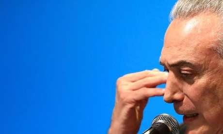 Presidente Michel Temer durante cerimônia em São Paulo 08/08/2017 REUTERS/Leonardo Benassatto