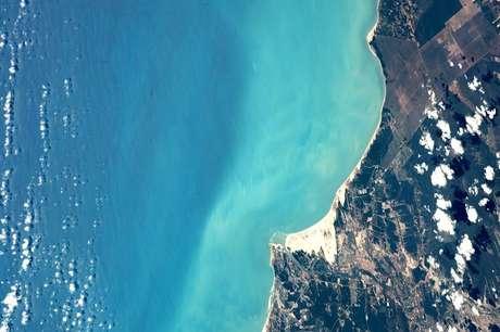 Astronauta posta foto do rio Jaguaribe, que corta o Estado do Ceará, vista do espaço