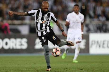 Bruno Silva foi um dos destaques da partida desta quinta-feira, contra o Nacional (Foto: Vitor Silva/SSPress/Botafogo)