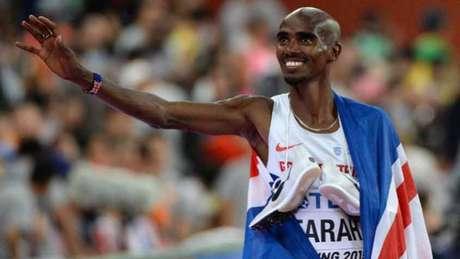 Mo Farah é tricampeão mundial nos 5.000m AFP