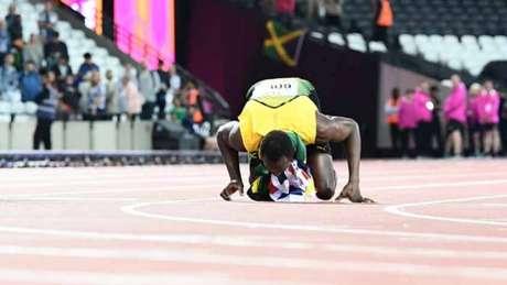 Usain Bolt conquistou o bronze nos 100m no Mundial de Londres AFP