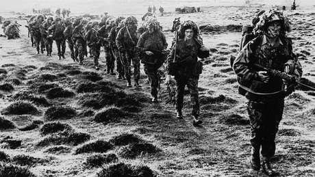 Desembarque das tropas britânicas