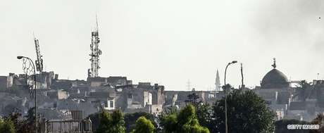 Minarete de al-Hadba após destruição