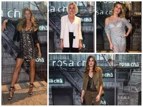 Gisele Bündchen, Fiorella Mattheis, Giovanna Ewbank e Camila Queiroz em evento da Rosa Chá