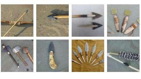 Bill Schindler e seus alunos criam réplicas de ferramentas da idade da pedra