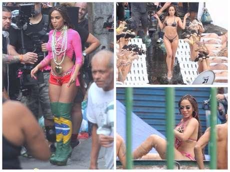 Looks da Anitta para gravar clipe