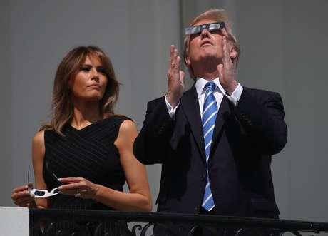 Donald Trump e Melania Trump observam fenômeno raro na Casa Branca