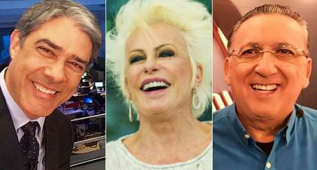 William Bonner, Ana Maria Braga e Galvão Bueno: os globais estão rindo à toa com a boa fase da emissora
