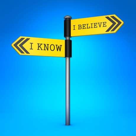 O que você sabe é diferente do que você crê