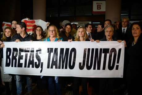 Artistas, juízes federais, políticos e procuradores da força tarefa da Operação Lava-Jato participam de ato em apoio ao juiz Marcelo Bretas