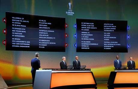 Sorteio dos grupos da Liga Europa em Mônaco 25/08/2017 REUTERS/Eric Gaillard