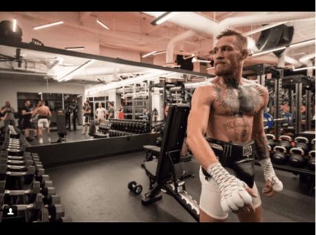 Conor McGregor durante treino em Las Vegas (EUA)
