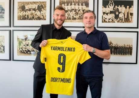 Mercado da bola: Borussia Dortmund contrata Andriy Yarmolenko
