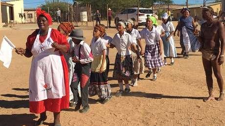 Dança tradicional em Springbok
