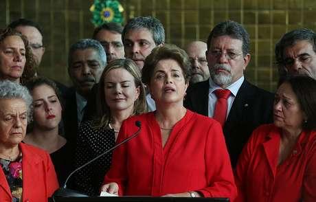 31 de agosto de 2016: Dilma discursa no Palácio da Alvorada após impeachment