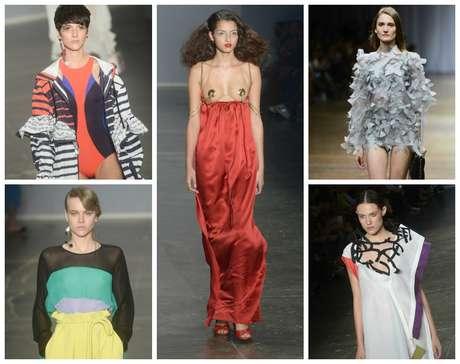 Listras, cintura, alta, bordados, vermelho são algumas das tendências do SPGW (Fotos: AgNews)