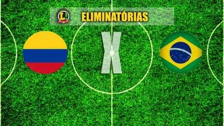Colômbia e Brasil se enfrentam pelaantepenúltima das Eliminatórias (Foto: Montagem / LANCE!)