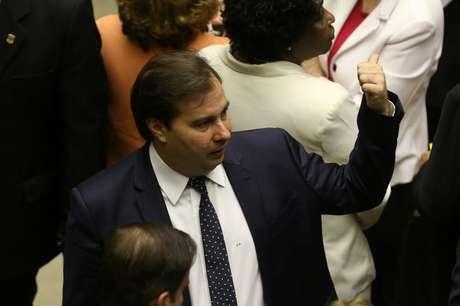 Presidente da Câmara dos Deputados, Rodrigo Maia, durante sessão da Casa, em Brasília 02/08/2017 REUTERS/Adriano Machado