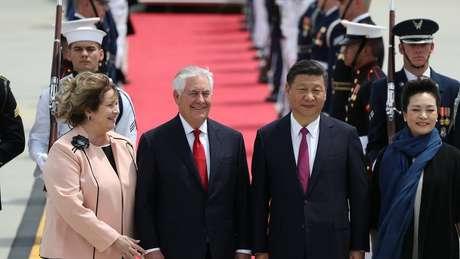 A China vê com a mesma preocupação a presença militar dos EUA na região e os testes da Coreia do Norte