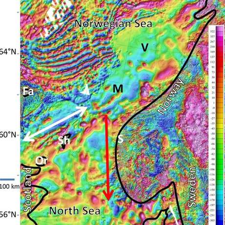 Mapa mostra como alterações no campo magnético podem ter alterado curso das baleias