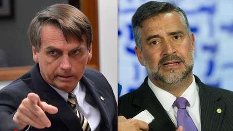 Montagem com os retratos dos deputados Jair Bolsonaro (PSC-RJ) e Paulo Pimenta (PT-RS)