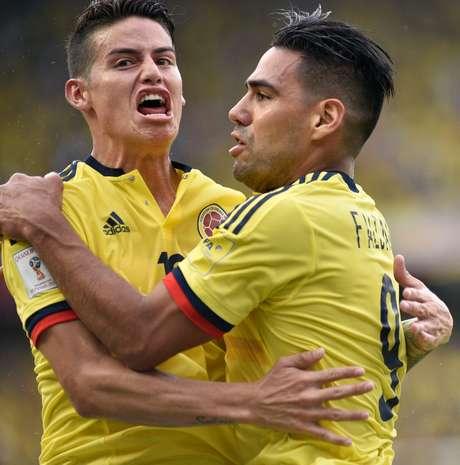 James Rodríguez e Falcao foram os grandes nomes da Colômbia