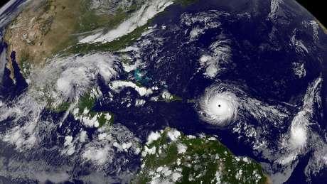 Imagem da Nasa mostra furação Irma