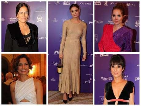 Looks das famosas nos Grande Prêmio do Cinema Brasileiro (Fotos: AgNews)