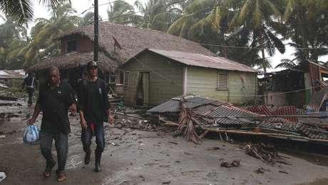 Destruição causada pelo Irma na República Dominicana