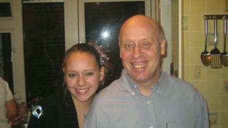 Jayne Green com seu pai