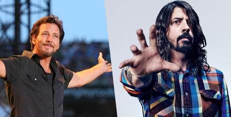 Bandas de Eddie Vedder e Dave Grohl devem vir ao Brasil em 2018
