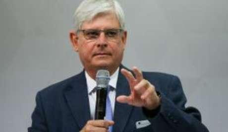 O procurador-geral da República, Rodrigo Janot, durante lançamento da campanha Todos juntos contra a corrupção, no Conselho Nacional do Ministério Público