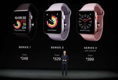Lançamento do Apple Watch Series 3 durante evento em Cupertino, Estados Unidos 12/09/2017 REUTERS/Stephen Lam