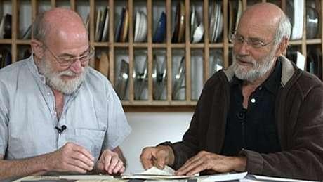 """Rog Palmer (à esquerda) e Chris Southall ajudaram a planejar """"pegadinha"""""""