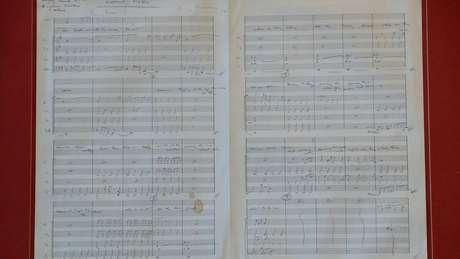 Imagem da partitura original de Eleanor Rigby