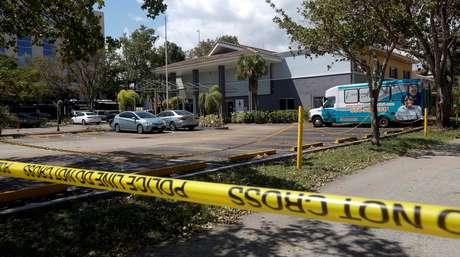 Casa de repouso em Hollywood é isolada pela polícia  13/92017    REUTERS/Andrew Innerarity