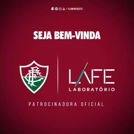 Fluminense anunciou patrocínio da LAFE até dezembro de 2017 (Foto: Divulgação/Fluminense F.C.)