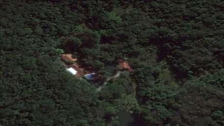 Visão de satélite do Google Earth do sítio de Atibaia atribuído à Lula pelo MPF | Foto: Reprodução/Google Earth