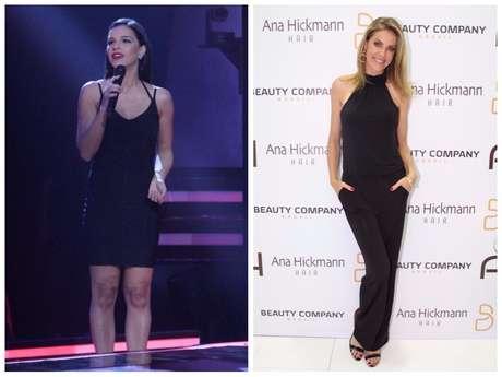 Looks pretos de Mariana Rios e Ana Hickmann