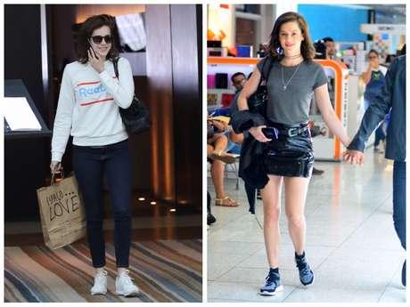 Looks com tênis da Sophia Abrahão (Fotos: AgNews)