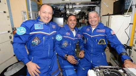 Astronautas Estação Internacional