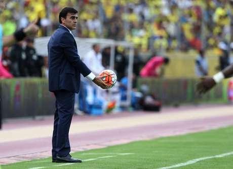 Gustavo Quinteros, ex-técnico da seleção do Equador 28/03/2017 REUTERS/Mariana Bazo