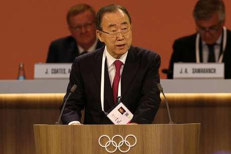 Ban Ki-moon fala durante sessão do COI em Lima  14/9/2017    REUTERS/Guadalupe Pardo