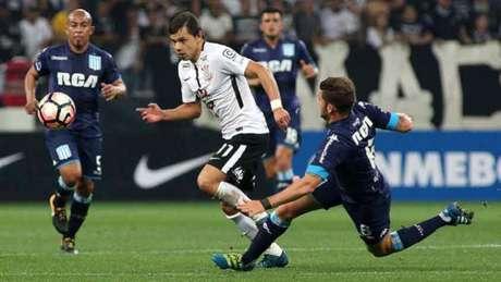 Romero teve boa chance de marcar ainda no primeiro tempo, mas não conseguiu (Foto: Luis Moura/WPP)