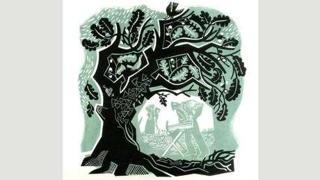 A ilustradora Clare Curtis está entre os artistas contemporâneos inspirados por árvores e florestas. (Crédito: Clare Curtis)