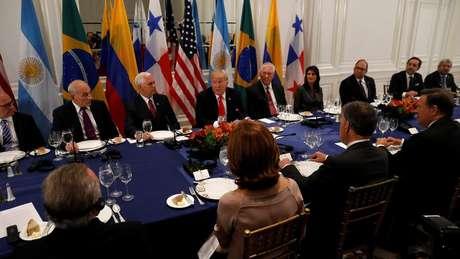 Trump oferece jantar a líderes da América Latina