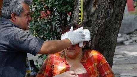 Diversas pessoas ficaram feridas durante o terremoto