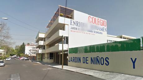 Fachada da escola Enrique Rébsamen antes do terremoto. Crédito: Google