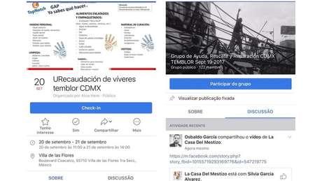 Por meio de grupos no Facebook, cidadãos pedem ajuda para vítimas do tremor   Foto: Reprodução